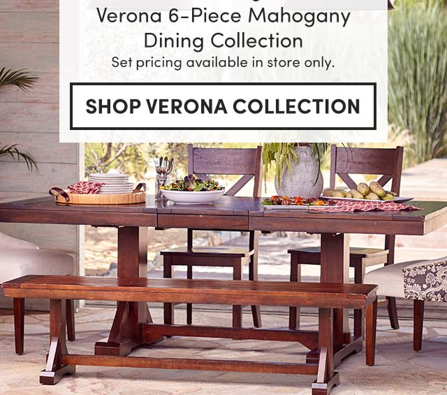 Save Over $400 Verona 6-Piece Mahogany Dining Collection. ›