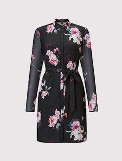 Lipsy floral printed shirt dress