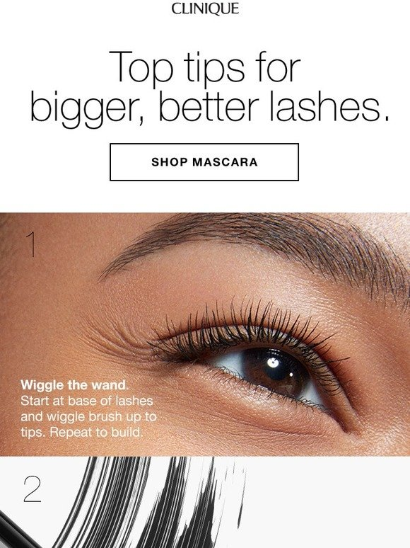 Clinique: Lash talk. Top tips + 4 free best sellers with purchase. | Milled