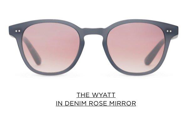 The Wyatt in Denim Rose Mirror