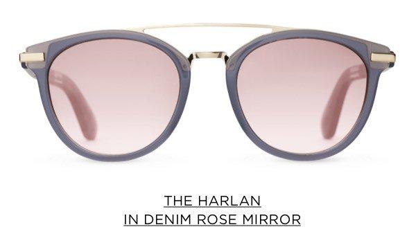 The Harlan In Denim Rose Mirror