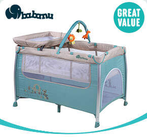 Babanu Dreamer 3-in-1 Travel Cot Aqua