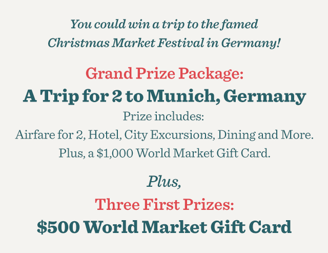 Grand Prize Package: A Trip For 2 To Munich, Germany