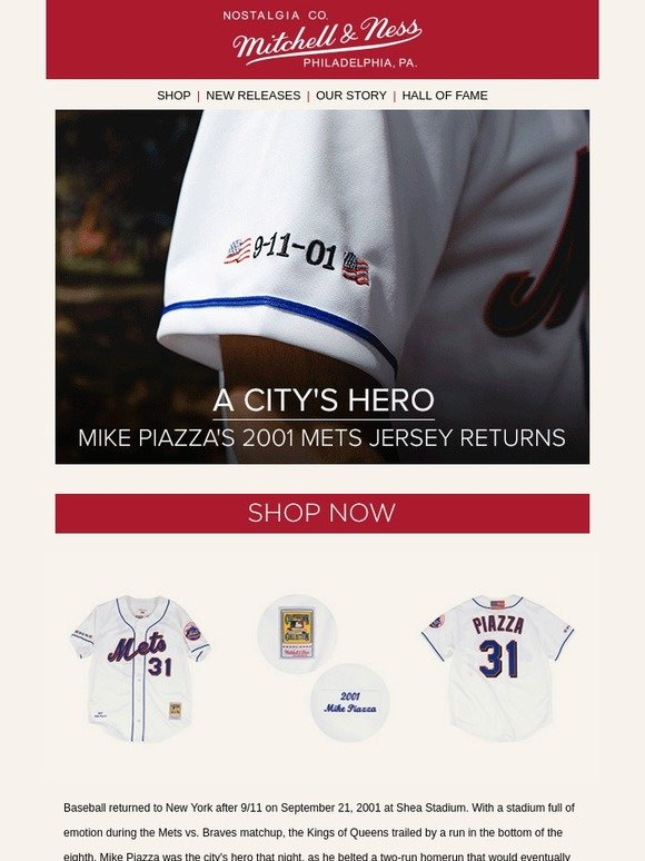 huge discount 6e5fa b5066 Mitchell & Ness: Special Release - Mike Piazza 2001 ...