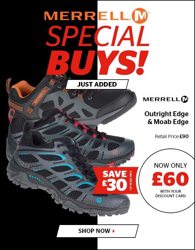 Merrell Footwear Special Buys