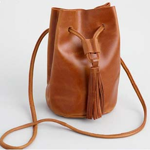 Tan Leather Bucket Bag ›