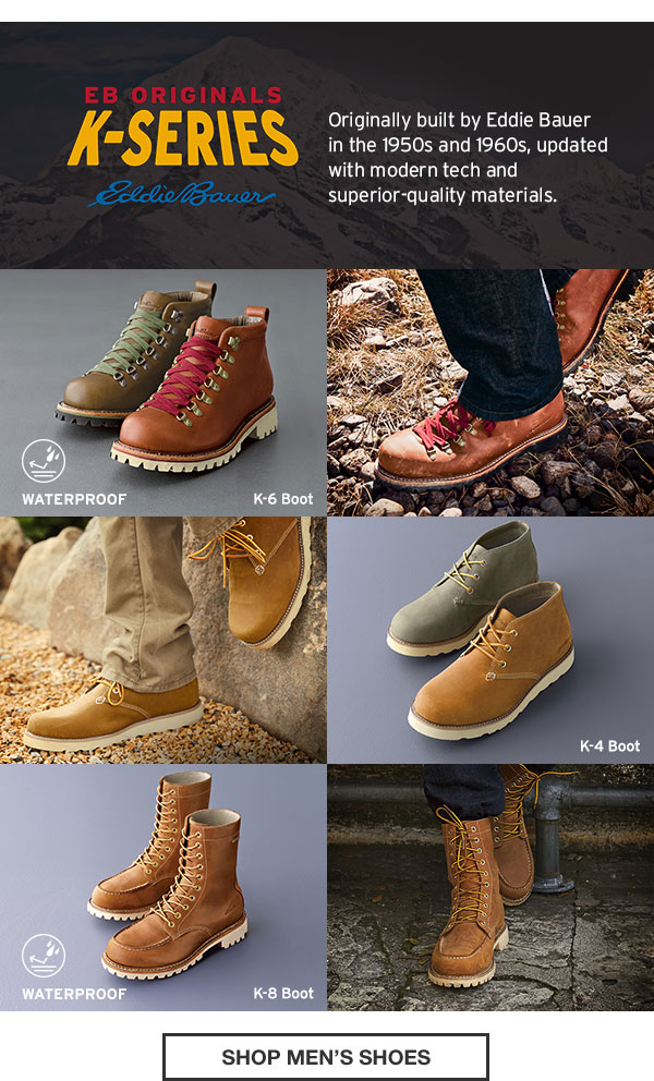 1664728cb1b Eddie Bauer: Introducing Our Heritage-Inspired K-Series Boots | Milled