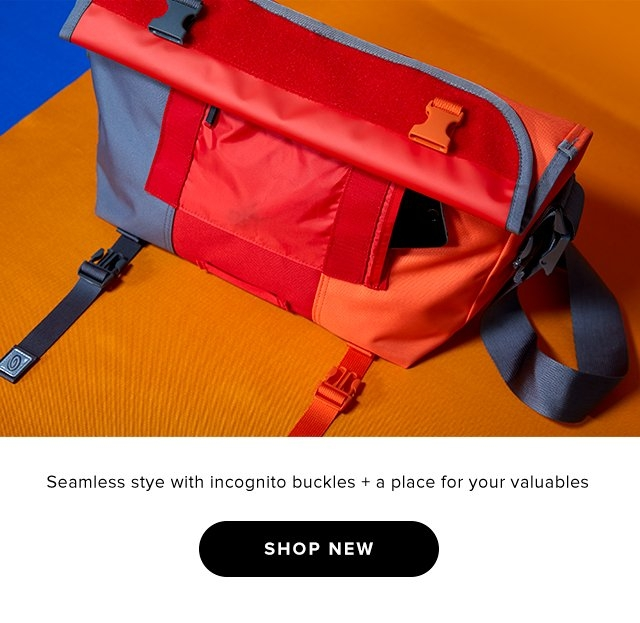 Seamless stye with incognito buckles + a place for your valuables – Shop Now