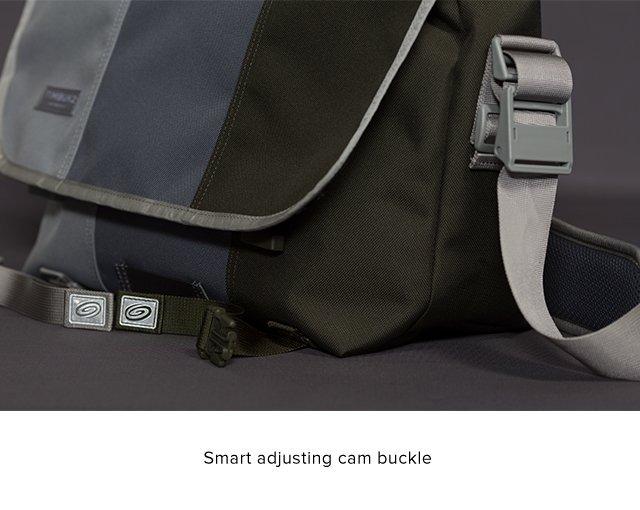 Smart adjusting cam buckle