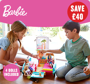Barbie Ultimate Puppy Mobile with 4 Dolls