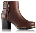 A profile view of an ankle boot.