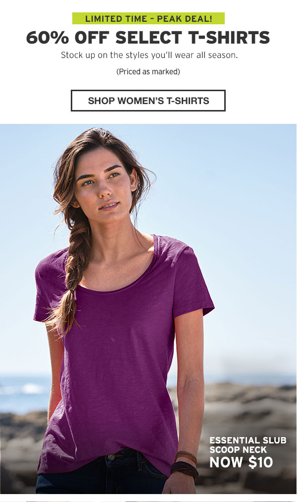 60% OFF SELECT T-SHIRTS | SHOP WOMEN'S T-SHIRTS