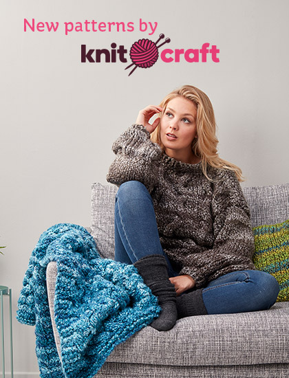 Hobbycraft New Funky Chunky Do The Twist Aran Patterns Milled