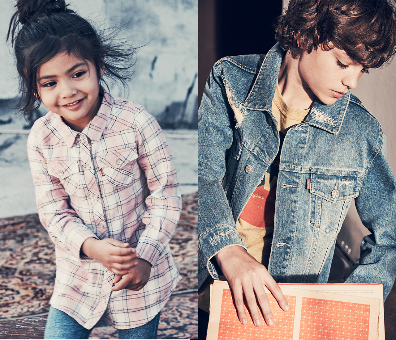 Plaids, jackets and jeans for the little ones. Shop kids