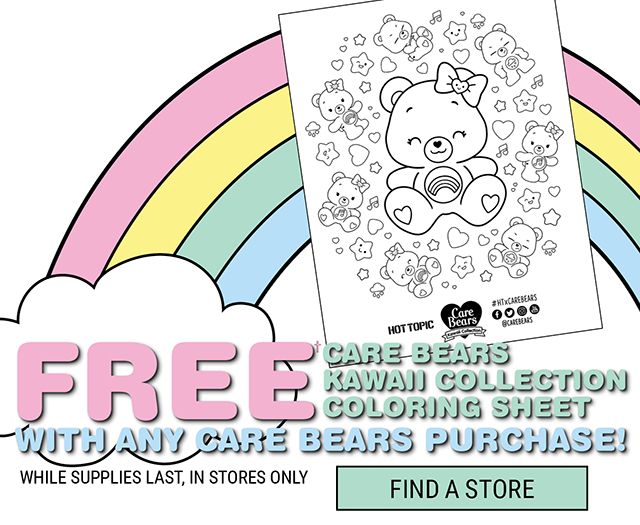 b1600fc5d79d5 Free Care Bears Kawaii Collection Coloring Sheet with any Care Bears  Purchase In Store Only