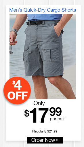 Men's Quick-Dry Cargo Shorts