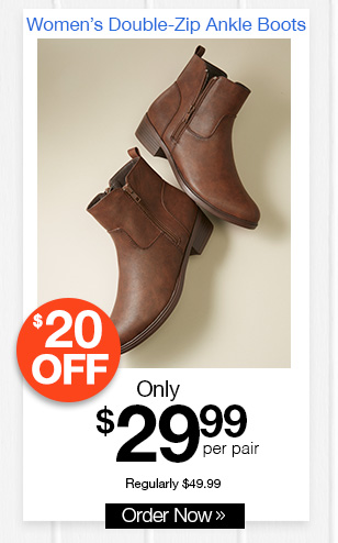 Women's Double-Zip Ankle Boots