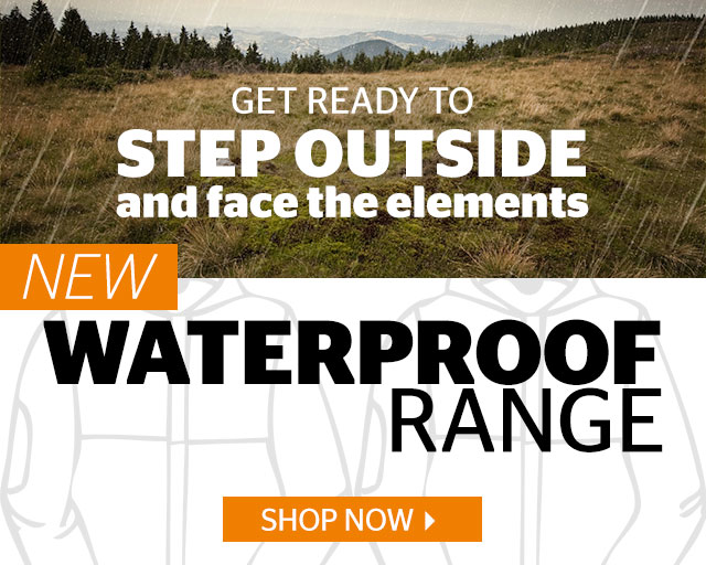 GET READY TO STEP OUTSIDE  AND FACE THE ELEMENTS NEW 100% WATERPROOF RANGE