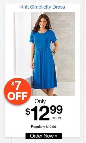 Knit Simplicity Dress