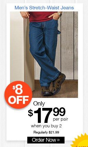 Men's Stretch-Waist Jeans
