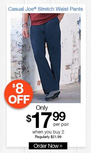 Casual Joe Stretch Waist Pants