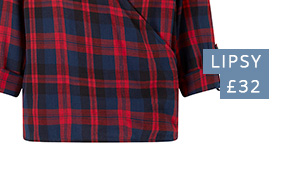 Roll over the image to zoom LIPSY CHECK WRAP SHIRT