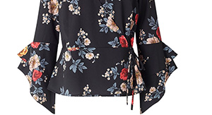 Quiz Floral Wrap Top