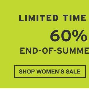 60% OFF END-OF-SUMMER ESSENTIALS | SHOP WOMEN'S SALE