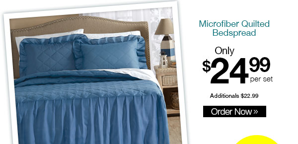 Microfiber Quilted Bedspread