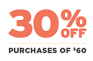 30% off purchases of $60