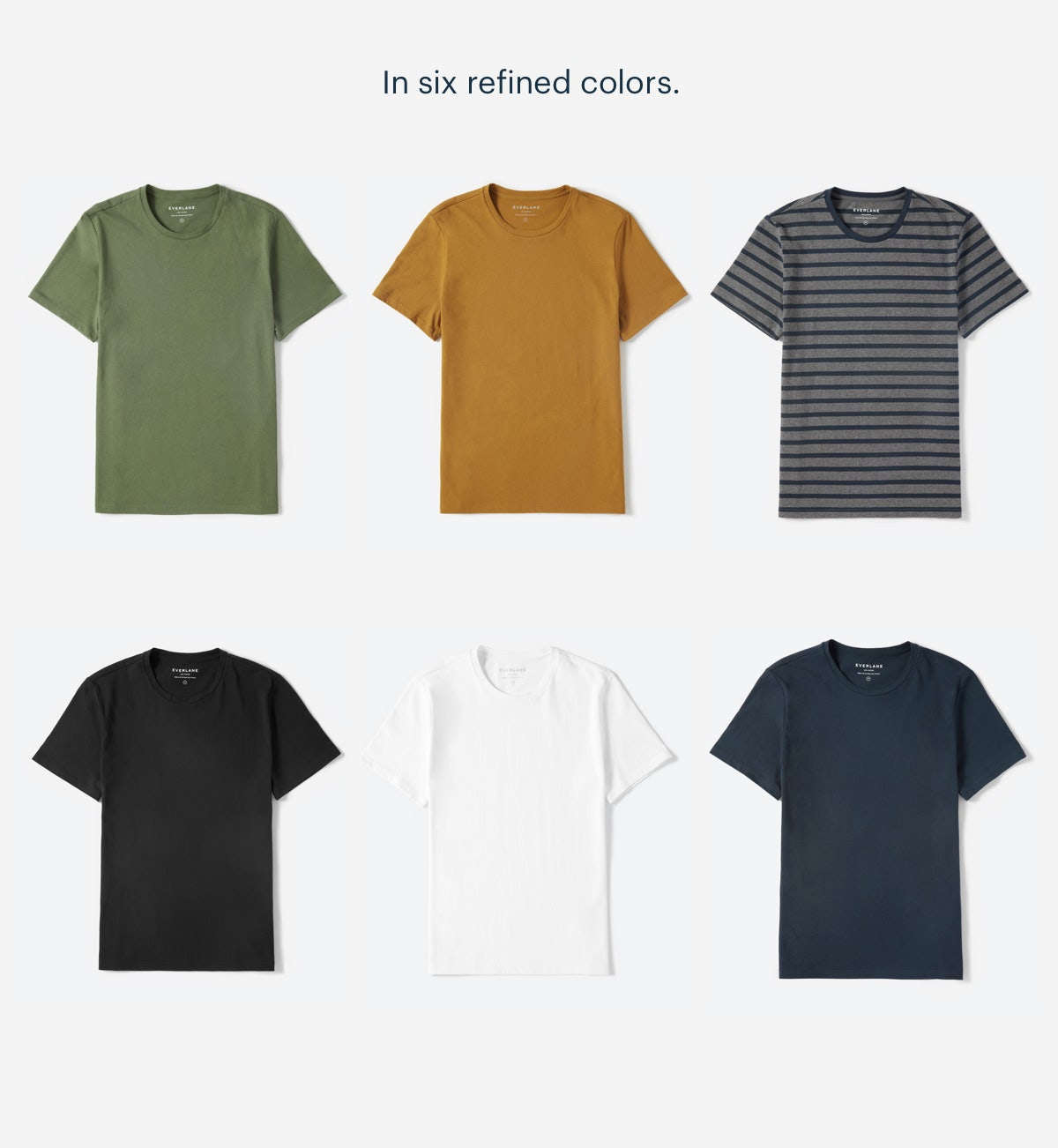 In six refined colors.