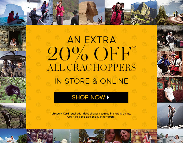 An Extra 20% off All Craghoppers