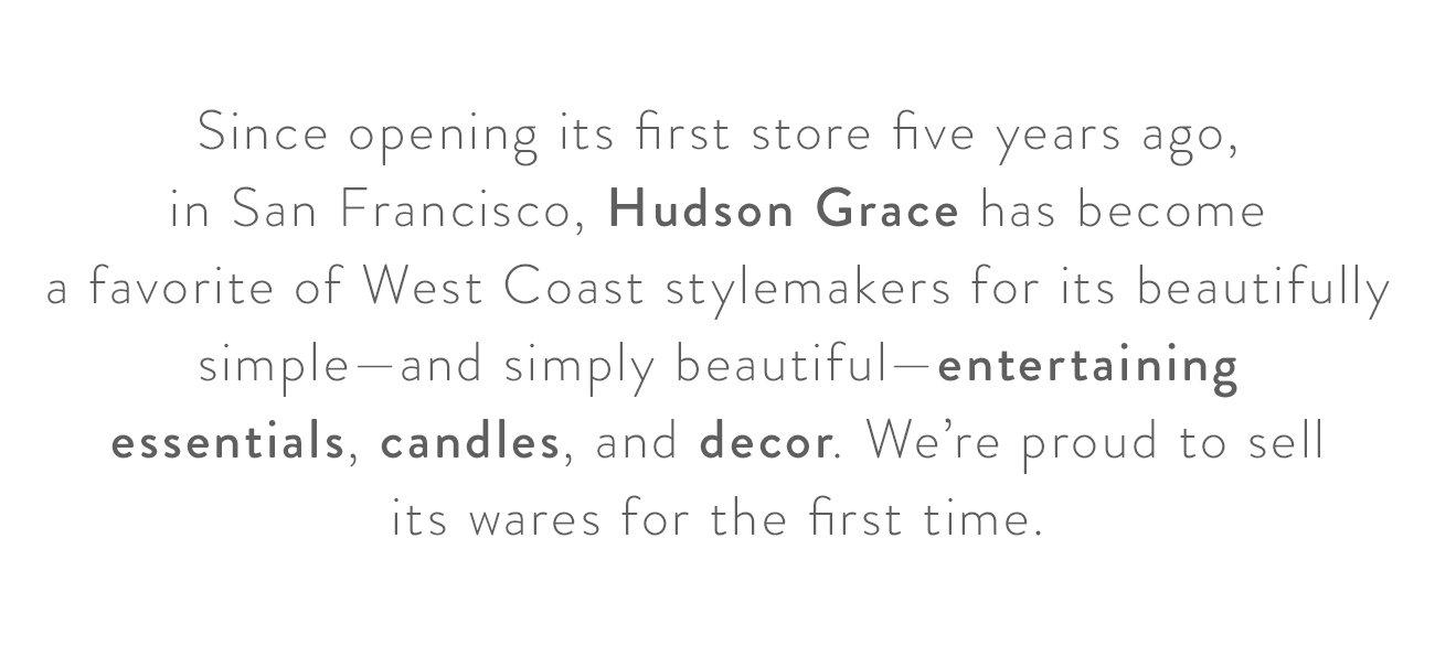 Introducing Hudson Grace
