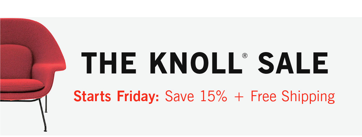 Knoll Sale Starts Friday