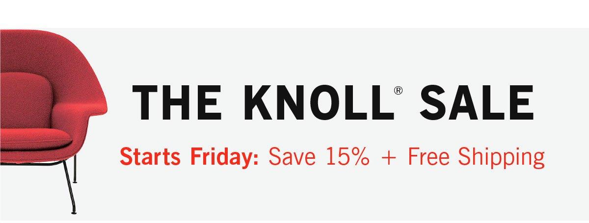 Knoll Sale Starts Friday