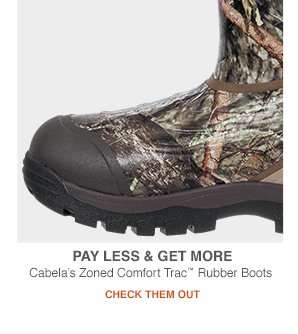 Cabela's Zoned Comfort Trac Rubber Boots EDV