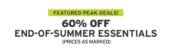 60% OFF END-OF-SUMMER-ESSENTIALS | SHOP SALE