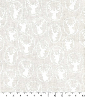 "Quilter's Showcase™ Cotton Fabric 44""-Deer Head White"