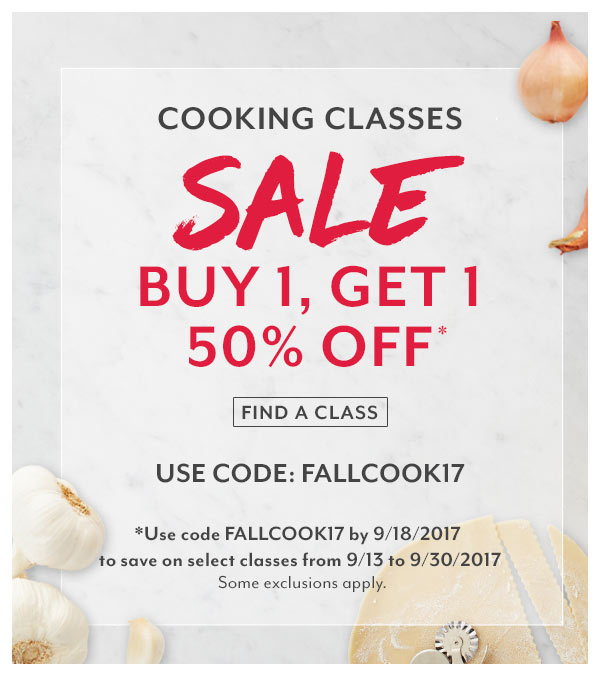 Cooking Class Sale