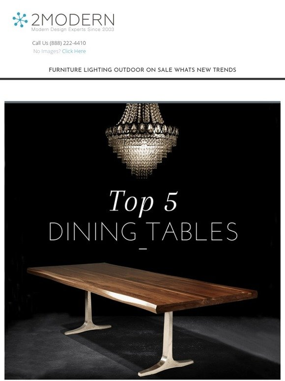 2modern com top 5 dining tables fall sales previews milled