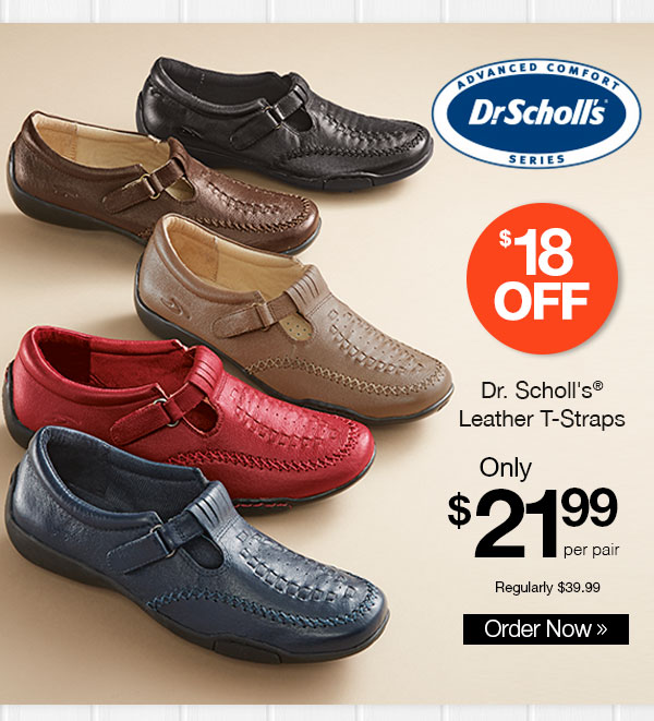 Dr. Scholl's Leather T-Straps