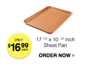 Titanium-Infused Copper Non Stick Sheet Pan