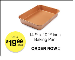 Titanium-Infused Copper Non Stick Baking Pan
