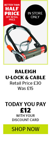 Raleigh U-Lock & Cable
