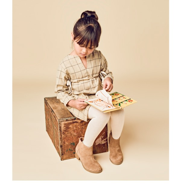 Toffee Suede Youth Leila Booties