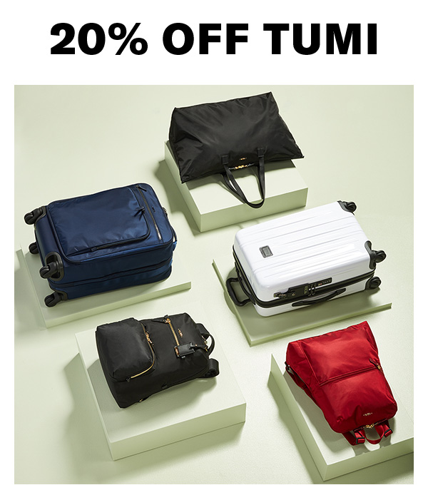 20% off Tumi Shop now.