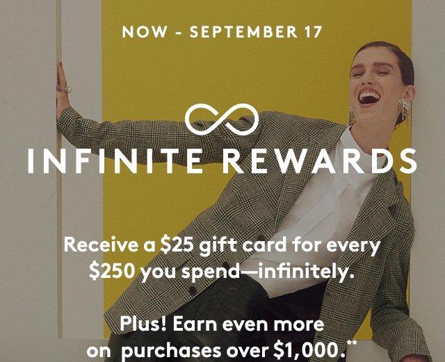 Shop to earn infinite rewards