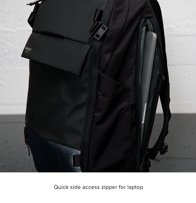 Quick side access zipper for laptop