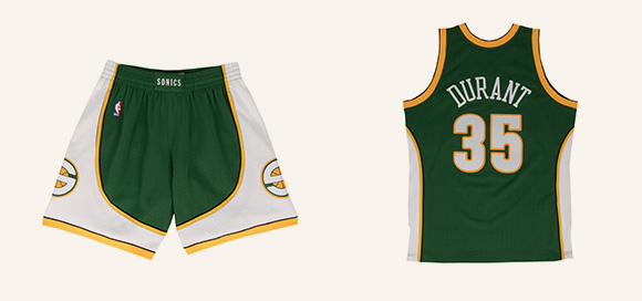 New Hardwood Classics Swingman Jerseys and Shorts