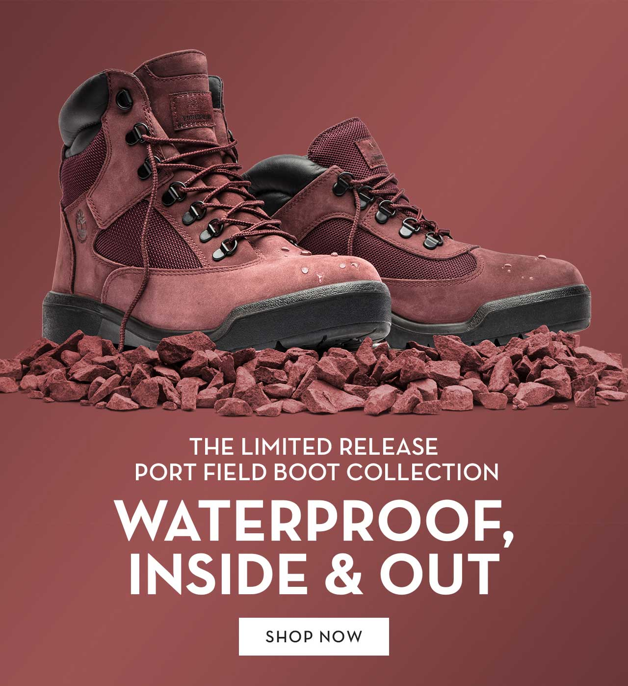 The Limited Release Port Field Boot Collection Waterproof, Inside & Out Shop Now